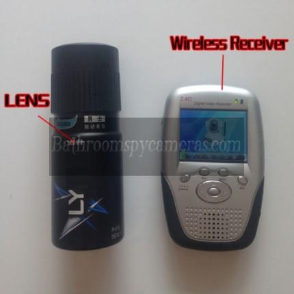 Wireless Shower Spy Camera Spray Bottle Pinhole Spy Camera 2.4GHz with Portable Receiver-Increase Receive Distance