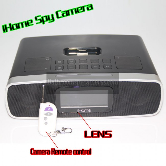 iHome Alarm Clock Radio Camera 1080P HD Spy DVR Pinhole Spy Camera 32GB Internal Memory