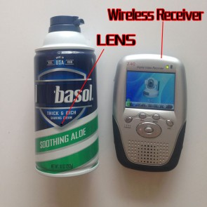 Wireless Camera in Shaving Cream Bottle With Motion Detection And Portable 2.4GHZ wireless Receiver